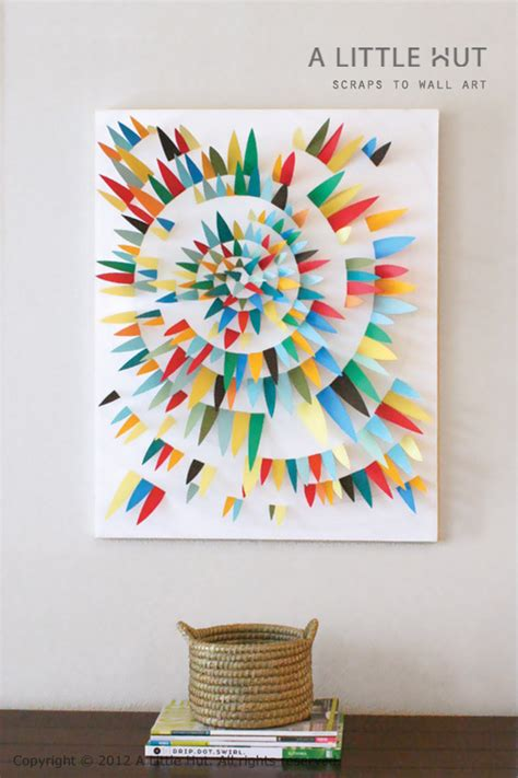 make it modern diy paper scrap wall art 187 curbly diy