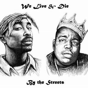 Biggie And Tupac - Free Coloring Pages
