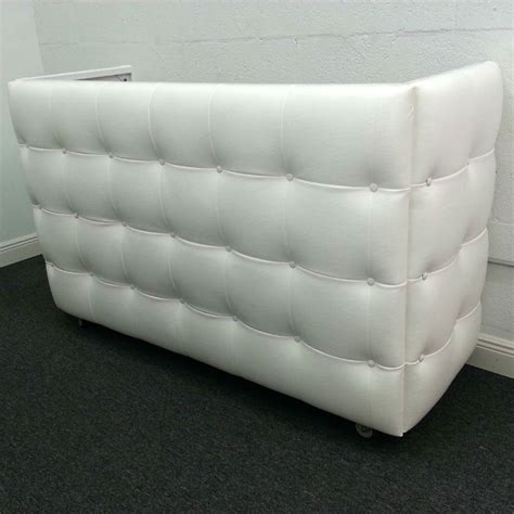 white tufted leather dj booth rental dj peoples