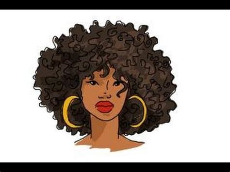 draw african american hair youtube