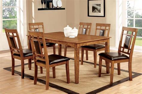 Oak Dining Set by Freeman I Light Oak 7 Dining Room Set From Furniture
