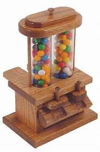Antiquegumball: Double Wooden Candy Dispenser