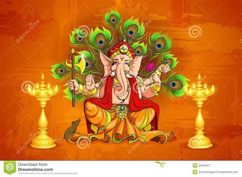 Lord Ganesha Stock Vector Illustration Of Deity