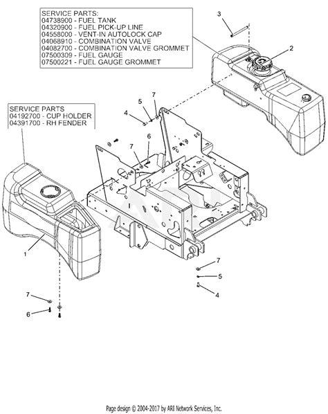 ariens    max zoom  parts diagram