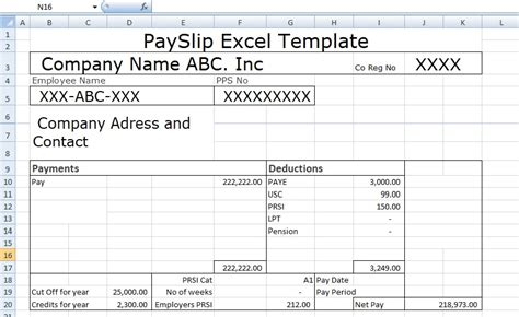 Editable Payslip Template by Payslip Template Format In Excel And Word Microsoft