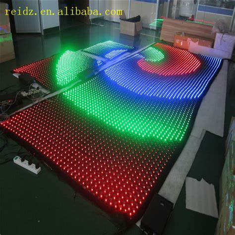 programmable led lights transparent mesh