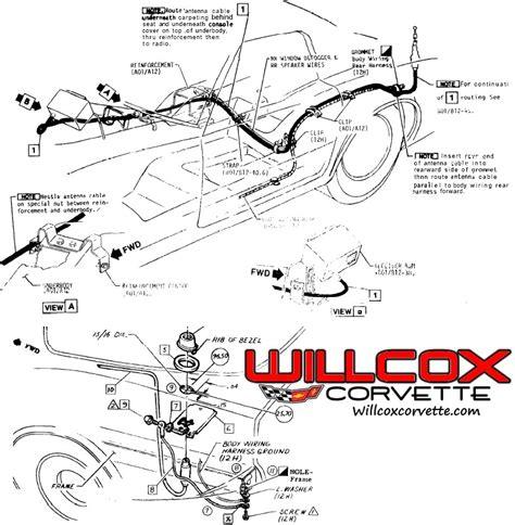 Corvette Antenna Cable Routing Willcox