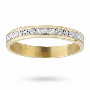 3mm ladies diamond cut wedding band in 18 carat yellow With 18 carat wedding rings