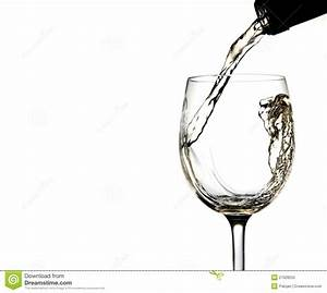 Pouring White Wine Into Glass Royalty Free Stock Photo ...