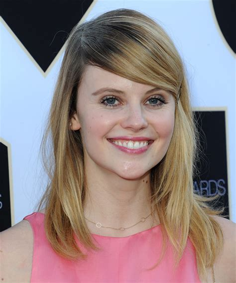 sarah ramos long straight casual hairstyle  side swept