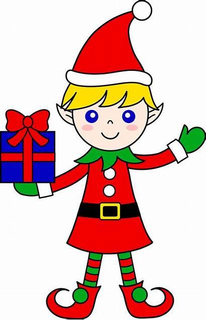 Christmas Elf Clip Gift Clipart Sweetclipart