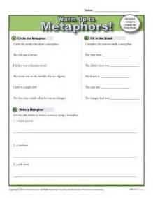 Printable Metaphor Worksheets 3rd Grade