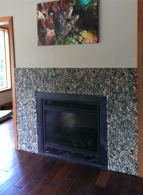fireplace pebbles bali pebble tile fireplace surround pebble tile