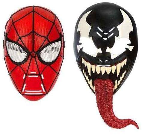 mascara de spider man  venom de nino  en