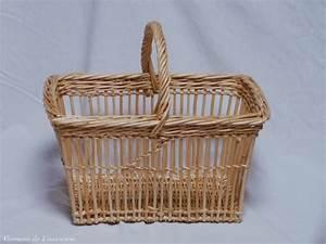 Panier Osier Rectangulaire : panier rectangulaire ajour en osier artisanat vente en ligne ~ Teatrodelosmanantiales.com Idées de Décoration