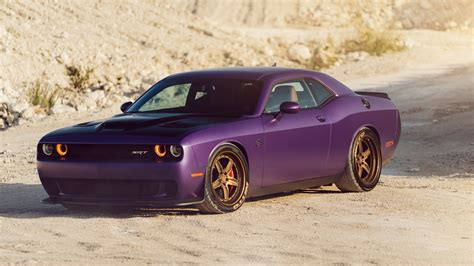 Adv1 Dodge Plum Hellcat 4k Wallpaper