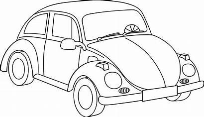 Vw Volkswagen Ausmalbilder Outline Beetle Clipart Kolorowanka