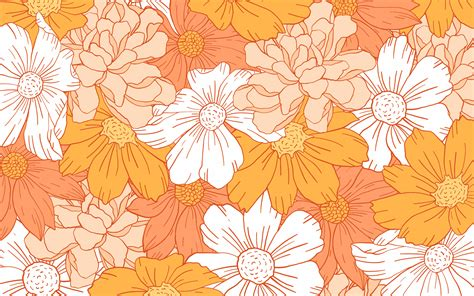 Aesthetic Orange Wallpaper Laptop by Pin By Hammack On Inspo Flower Desktop