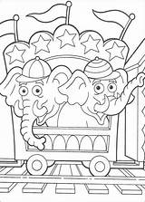 Coloring Circus Pages Printable Elephant Popular sketch template