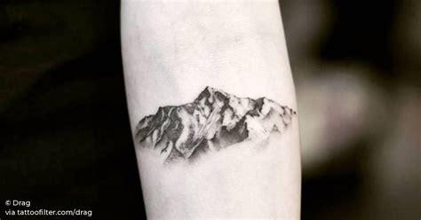 mountain on the left inner forearm