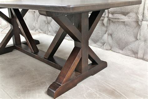 build a drop leaf table restoration hardware inspired x base trestle table