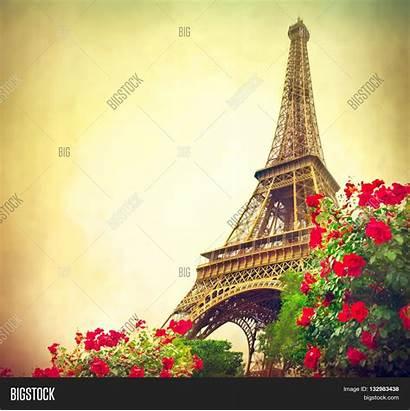 Paris Eiffel Tower Sunrise France Romantic Background
