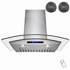 Akdy 30 In  Convertible Kitchen Wall Mount Range Hood In