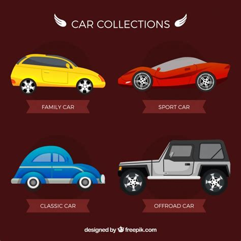 Pack Of Various Cars Types Vector