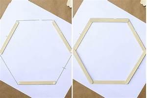 Popsicle Stick Hexagon Shelf -- Easy DIY Wall Art