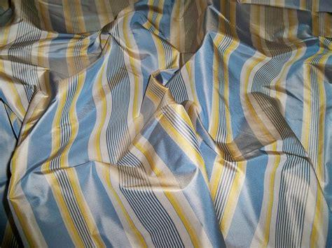 Silk Loom Parisian Stripe Silk Taffeta Fabric Parisian Blue Taupe Navy Goldenrod 30 Yard Bolt How To Make Pleated Curtains With Hooks Outhouse Window Beige Velvet Park Catalog Diy Long Curtain Rod Grommets Metal Brown White Striped Sliding Patio Doors