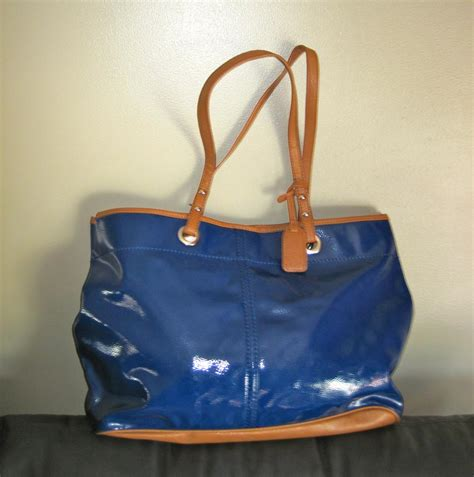 royal blue leather handbag