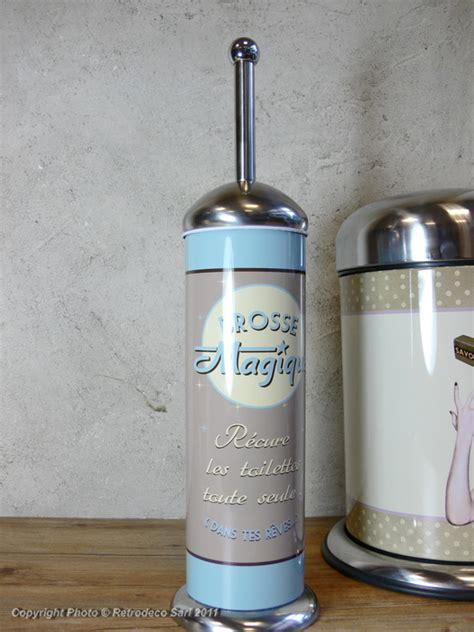 distributeur papier cuisine balayette wc brosse magique déco vintage natives 211307