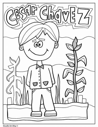 Hispanic Heritage Cesar Chavez Month Coloring Pages