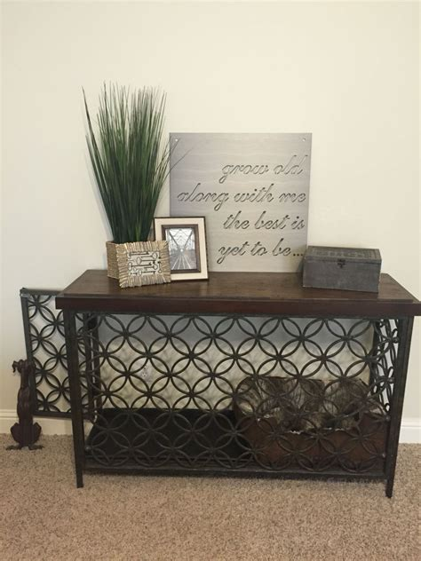 turned  console table   decorative dog crate