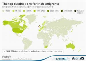 This map shows where all the Irish emigrants went ...