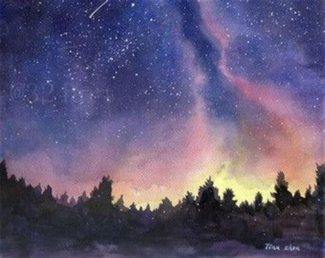 aquarell galaxy malerei nachthimmel galaxy print