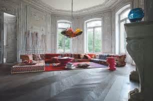 bohemian living room roche bobois mah jong modular sofa