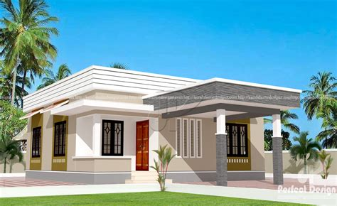 829 Sqft Low Cost Home Designs  Kerala Home Design