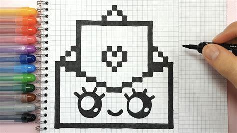desenhos quadriculados pixel art envelope fofo criando