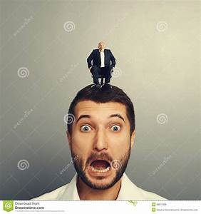 Scared Man With Laughing Boss Royalty Free Stock Photos ...