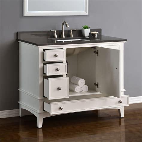 cambridge  white single sink vanity mission hills