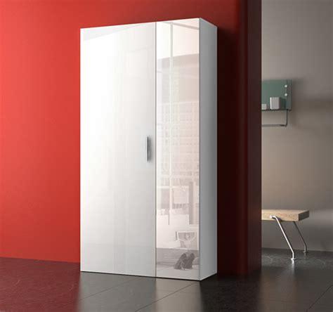 armoire de bureaux armoire à chaussure yvonne blanc blanc brillant