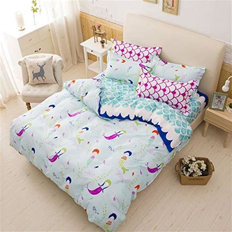 mermaid comforter set lemontree mermaid bedding set soft bedding