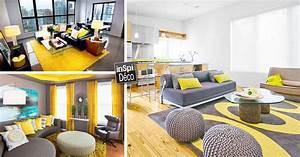 Photo Deco Salon : d co jaune et gris dans le salon 25 id es cr atives ~ Melissatoandfro.com Idées de Décoration
