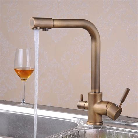 kitchen sink water filter faucet free shipping retail promotion antique brass kitchen sink