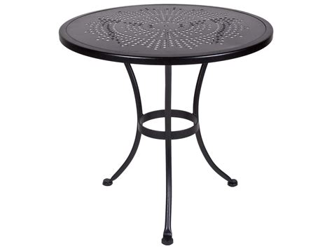 picnic table with umbrella hole ow lee bistro wrought iron sted 30 round table with