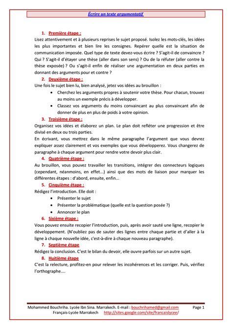 Conclusion Résumé De Texte by Image Gallery Texte Argumentatif