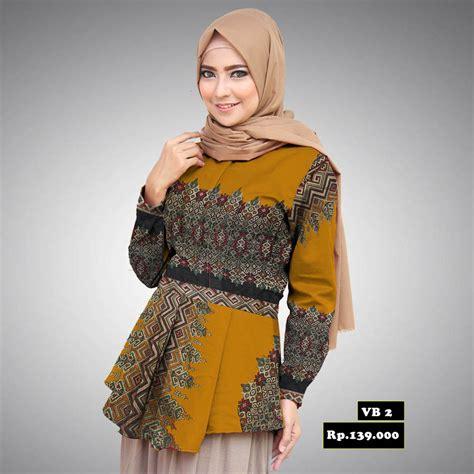 100 gambar baju batik modern perempuan dengan model baju