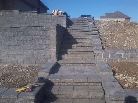 Unilock Pisa 2 - unilock pisa ii staircase with richcliff pavers in each