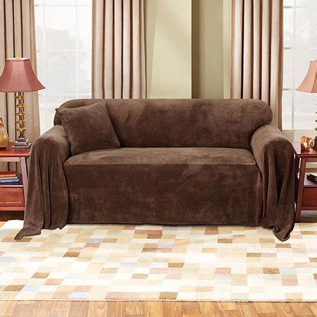 Loveseat Cover Walmart by Mainstays Plush Sofa Furniture Throw Walmart